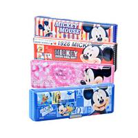 联众迪士尼米奇系列文具盒 米老鼠简约双面学生笔盒