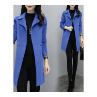 毛呢外套女中长款秋冬新款韩版时尚气质修身显瘦呢子大衣外套