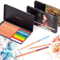 马可雷诺阿3100油性彩铅笔12色适合人物肖像绘画植物树木风景画专业手绘美术套装马克彩色铅笔