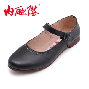内联升女鞋布鞋牛皮便花边一代鞋 时尚休闲 老北京布鞋 7291A