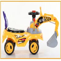 大号儿童挖掘机玩具车可坐可骑男孩工程车挖机宝宝学步车挖土机