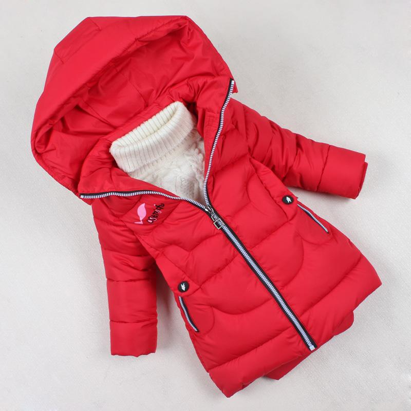 2018新款儿童冬装女童棉衣外套加厚中长款女宝宝棉袄