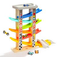 6层滑翔轨道车小汽车玩具男孩女宝宝1-2-3-4周岁模型轨道