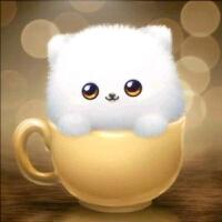 钻石画满钻十字绣2019新款卧室点贴钻儿童卡通小猫动物杯子狗简单