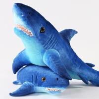 鲨鱼玩具毛绒公仔仿真海洋馆大白鲨布娃娃创意抱枕睡觉儿童玩偶