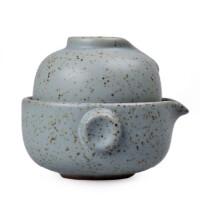 陶瓷故事 汉陶快客杯 陶瓷一壶一杯茶具 茶杯茶壶套装