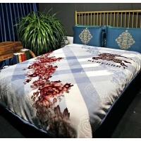 柔加厚拉舍毛毯婚庆大红喜被双层891011斤冬季双人云毯定制