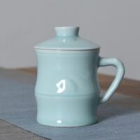 【优选】茶杯陶瓷过滤汝窑定制单杯紫砂冰裂男女泡茶家用主人杯