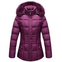 妈妈装棉衣女装短款加厚40岁50中老年羽绒中年人冬装棉袄外套
