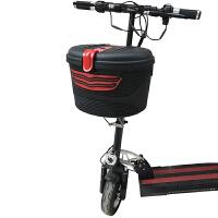 电动滑板车篮子后车筐前车篮折叠代步车后置防水支架配件