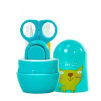 婴儿指甲剪套装新生专用儿童指甲钳宝宝指甲刀婴幼儿防夹肉磨甲器 组合装