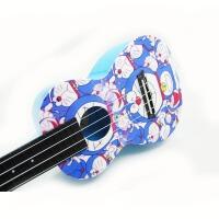 支持货到付款 Vorson  彩印 尤克里里 C型 23寸 ukulele 乌克丽丽 小四弦 夏威夷 小吉他 蓝色  AUP-24-32