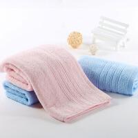 毛巾纯棉洗脸家用面巾家用男女柔软吸水毛巾全棉四条装 天蓝色 海军蓝2+蜜桃粉2 33x72cm