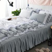 北欧风家居床上用品四件套1.5m1.8米单人双人纯色4件套