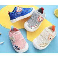 学步鞋男女宝宝夏季婴儿软底凉鞋不掉春秋网面透气网眼鞋