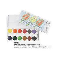 Talens泰伦斯透明固体水彩颜料12色铁盒套装 荷兰进口 配调和剂