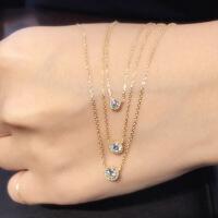 六一儿童节520日本代购银座Ginza Rim 18K 极光超闪单颗钻石吊坠 项链520礼物母亲节 H/白
