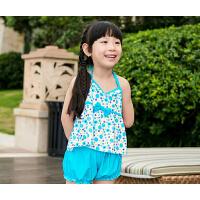 夏季女士亲子 儿童游泳衣聚拢裙式 连体平角分体 时尚 温泉度假