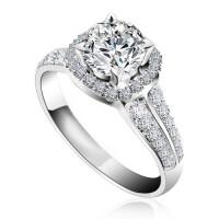 梦克拉 18K金钻石戒指 皇室传奇 群镶81分