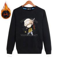 男士长袖T恤加绒加厚青少年上衣服冬季秋冬装圆领打底衫内搭卫衣 黑色加绒 WY957