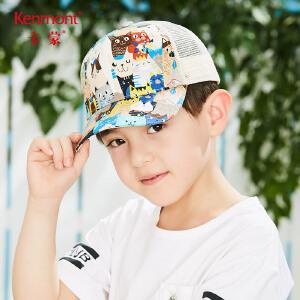 卡蒙3-6岁男童鸭舌帽卡通印花户外防晒棒球帽透气儿童太阳帽女夏4661