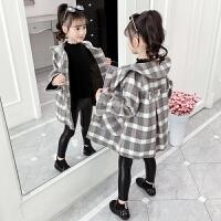 2019冬季新款洋气童装女孩韩版呢子大衣女童秋冬装毛呢外套