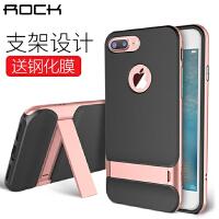 ROCK苹果iPhone7/7 Plus手机壳/莱斯保护套 4.7/5.5英寸硅胶壳/PC边框 苹果7手机套 苹果6s保护套 iPhone7手机壳【赠贴膜5件套】