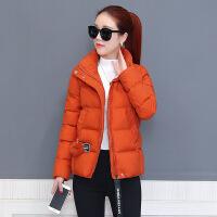 短款棉衣女冬装新款韩版羽绒百搭流行外套女冬季小棉袄潮 橘色 S