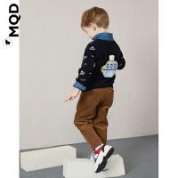 MQD童装男童灯芯绒休闲裤长裤2019秋新款儿童运动裤宝宝洋气