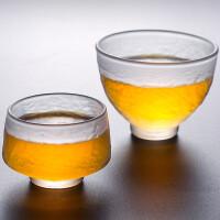 唐丰玻璃品茗杯单个家用透明主人杯耐热茶杯磨砂个人杯小号饮茶杯