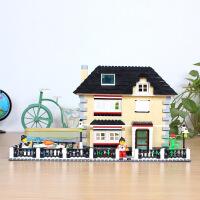 万格积木城市拼装别墅系列5岁-8岁男孩女孩益智儿童玩具礼物34051