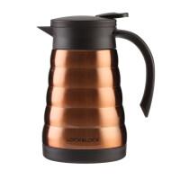 乐扣乐扣 美塔真空一键式不锈钢保温咖啡壶 600、800ml LHC14412 棕色 600ml