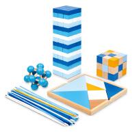 七巧板游戏棒孔明锁拼搭积木 妙趣横生玩益智玩具礼盒套装