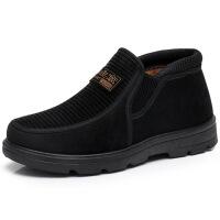 冬季老北京布鞋男棉鞋加绒加厚保暖鞋老人鞋套脚中老年爸爸鞋
