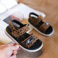 1-3岁婴儿学步鞋软底鞋男女小童鞋子豹纹沙滩鞋儿童夏季宝宝凉鞋