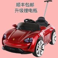 婴儿童电动玩具小汽车四轮可坐人充电遥控手推杆宝宝男女孩一岁-5