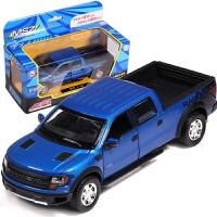 福特F150皮卡玩具仿真儿童声光合金回力可开门小汽车模型男孩礼物 福特皮卡_蓝 [1:32]