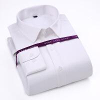秋冬新款男士胸花条纹长袖保暖衬衫男士商务休闲长袖衬衫