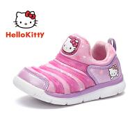 【4折�r:99.6元】HelloKitty�P蒂�童鞋女童毛毛�x�\�有�秋季新款�����和�休�e女孩跑步鞋K8543811