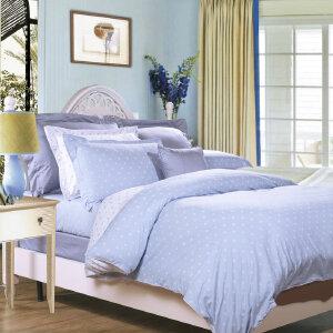 [当当自营]富安娜家纺纯棉四件套1.5米1.8米床印花套件 玻璃球 浅蓝 1.8m