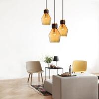现代简约创意餐厅玻璃吊灯 客厅吊灯个性咖啡厅酒吧玻璃吊灯