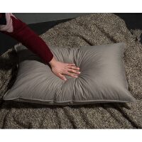 日式无印羽绒枕良品透气白鸭绒枕柔软水鸟毛枕头轻盈靠枕抱枕枕芯定制