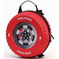 儿童幼儿园斜挎书包小中大班3-6岁3D立体车轮胎可爱个性零食背包