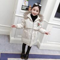 女童棉衣冬装2018新款洋气童装儿童中长款加厚棉服中大童棉袄外套