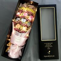 满天星干花许愿兔花束玫瑰香皂花礼盒生日情人节教师节礼物网红花 干花包