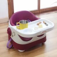儿童餐椅便携式餐桌婴儿可折叠座椅小孩吃饭桌可绑男女宝宝椅子 紫色