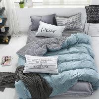 �棉三件套�W生宿舍床上用品全棉��s被套床�紊舷落��稳怂募�套