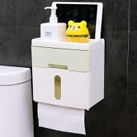 手纸盒卫生间厕所纸巾盒免打孔卷纸筒抽纸厕纸盒防水卫生纸置物架抖音