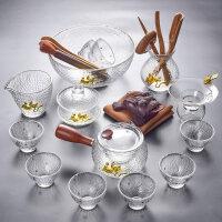 【好店】玻璃功夫茶具套装 家用整套耐热玻璃茶壶茶杯茶道茶具套装 +茶道茶宠+茶洗