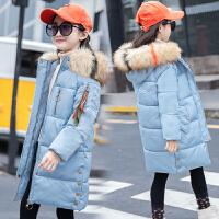 女童棉衣2018新款冬装中长款外套儿童韩版洋气女孩棉袄加厚潮